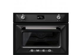 Комбинирана микровълнова и фурна SMEG SF4920MCN серия Victoria в черно