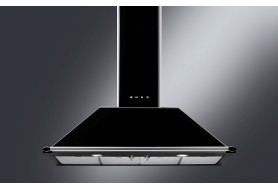 Стенен аспиратор SMEG KT110BLE серия Victoria  в черно