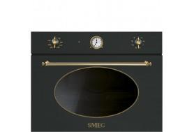 Микровълнова за вграждане SMEG SF4800MА серия Coloniale в антрацит със злато
