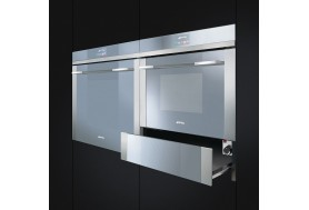 Комбинирана фурна и микровълнова за вграждане SMEG SF4140MC модерна сиво сребърно стъкло