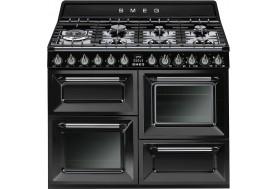 Голяма свободно стояща печка 110см SMEG TR4110BL1 с три фурни и 7 газови котлони в черен цвят SMEG TR4110BL1