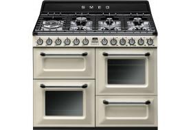 Голяма свободно стояща печка 110см SMEG TR4110P1 с три фурни и 7 газови котлони в цвят крем SMEG TR4110P1