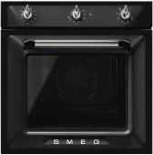 Ретро фурна за вграждане SMEG серия Victoria SF6905N1 в черен цвят със сребро и хром