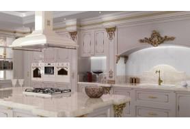 Смесител за кухня в ретро дизайн SMEG MICOR9OT в месинг с бяла керамика