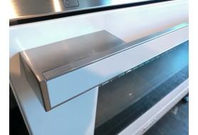 Голяма свободно стояща печка SMEG CPF9IPWH с голяма 90см фурна и 5 индукционни котлона в бяло и неръждаема стомана
