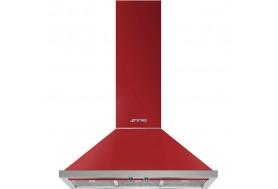 Аспиратор за стена SMEG KPF9RD, серия Portofino в цвят червен с неръжаема стомана