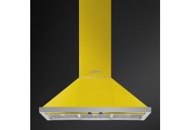 Аспиратор за стена SMEG KPF9YW, серия Portofino в цвят жълто с неръжаема стомана