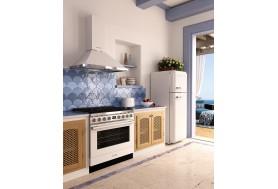 Аспиратор за стена SMEG KPF9WH, серия Portofino в цвят бяло с неръжаема стомана