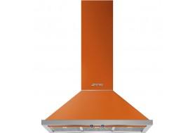 Аспиратор за стена SMEG KPF9OR, серия Portofino в цвят оранжево с неръжаема стомана