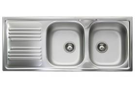 Голяма мивка от неръждаема стомана SMEG LYP116S с две корита и отцедник