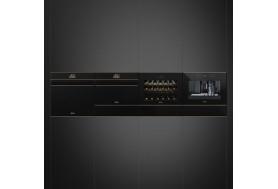 Затоплящо чекмедже SMEG Dolce Stil Novo CTP5015NR в черно стъкло с меден профил