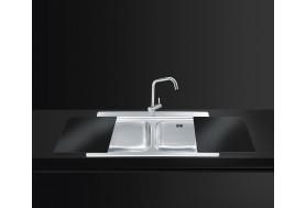 Плъзгащи се дъски за мивки от черно стъкло SMEG CVB40N2