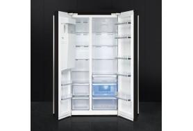 Голям хладилник SMEG SBS963N Victoria side by side с диспенсър и ледогенератор в черно