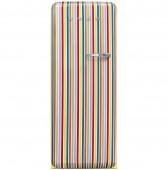 Ретро хладилник SMEG FAB28LDCS3 в цветни вертикални ленти