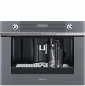 Автоматична кафе машина - кафе автомат SMEG CMS4101S в сиво стъкло и неръждаема стомана