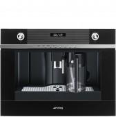 Автоматична кафе машина - кафе автомат SMEG CMS4101N в черно стъкло и неръждаема стомана