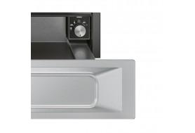 Затоплящо чекмедже SMEG от ретро серията Victoria CPR915X в неръждаема стомана инокс