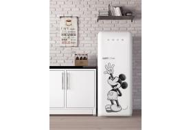 Ретро хладилник SMEG FAB28RDMM4 в бяло с Мики Маус лимитиран продукт