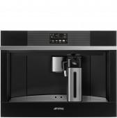 Автоматична кафе машина за вграждане - кафе автомат SMEG CMS4104N в черно стъкло и неръждаема стомана