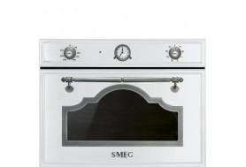 Микровълнова фурна SMEG Cortina SF4750MBS в бяло със състарено сребро