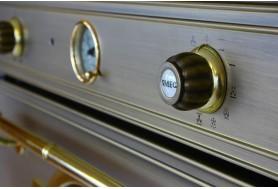 Микровълнова фурна SMEG Cortina SF4750MOT в месинг със злато