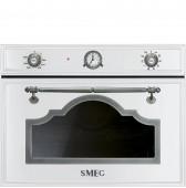 Фурна и микровълнова SMEG Cortina SF4750MCBS в бяло със старо сребро