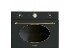 Микровълнова за вграждане SMEG SF4800MАO серия Coloniale в антрацит с месинг