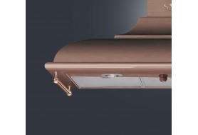 Аспиратор за стена SMEG KC19RAE в ретро серия Cortina и цвят мед