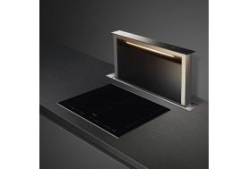 Индукционен плот за вграждане SMEG Dolce Stil Novo SIM662WLDX с черна стъклокерамика и иноксови профили, две големи мулти зони