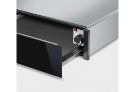 Затоплящо чекмедже SMEG Dolce Stil Novo CTP5015NX в черно стъкло със иноксов профил