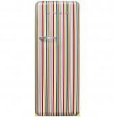 Ретро хладилник SMEG FAB28RDCS3 в цветни вертикални ленти