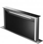 Даун драфт аспиратор за вграждане в плот SMEG KDD90VXNE  в черно стъкло и неръждаема стомана