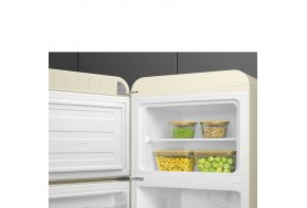Ретро хладилник SMEG FAB30LBE5 с горна камера и леви син